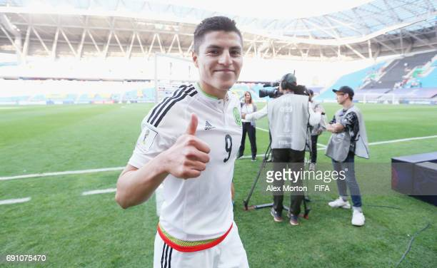 Ronaldo Cisneros of Mexico celebrates at the final whistle during the FIFA U20 World Cup Korea Republic 2017 Round of 16 match between Mexico and...