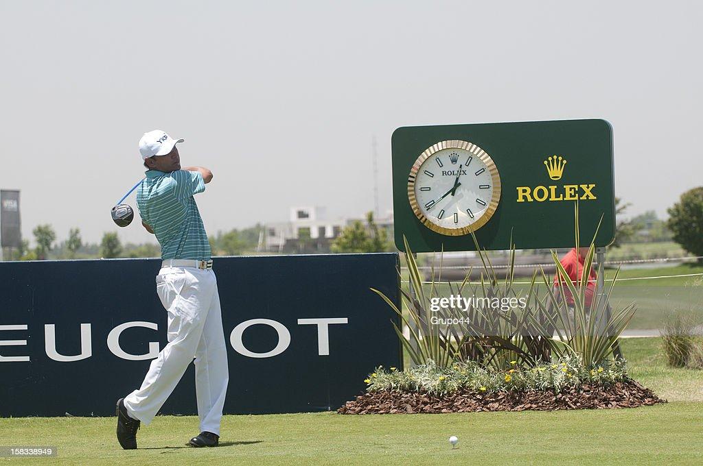 Ronaldo Francisco of Brasil plays a shot during the opening day of the 107 Visa Golf Open presented by Peugeot as part of the PGA Latin America at Nordelta Golf Club on December 13, 2012 in Buenos Aires, Argentina.