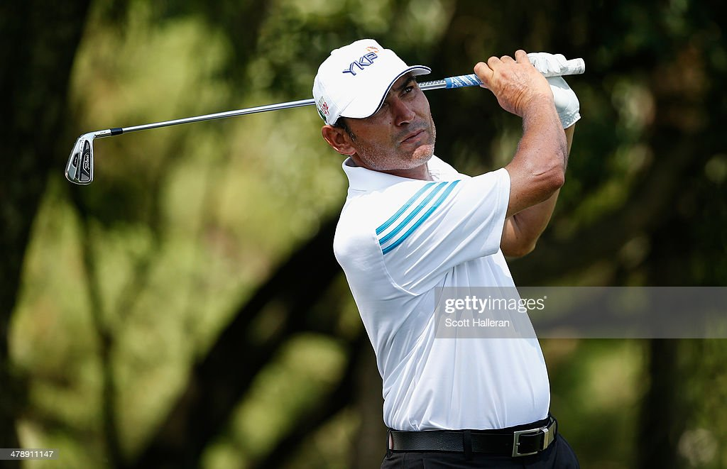 Ronaldo Francisco of Brazil hits his tee shot on the seventh hole during the third round of the 2014 Brasil Champions Presented by HSBC at the Sao Paulo Golf Club on March 15, 2014 in San Paulo, Brazil.