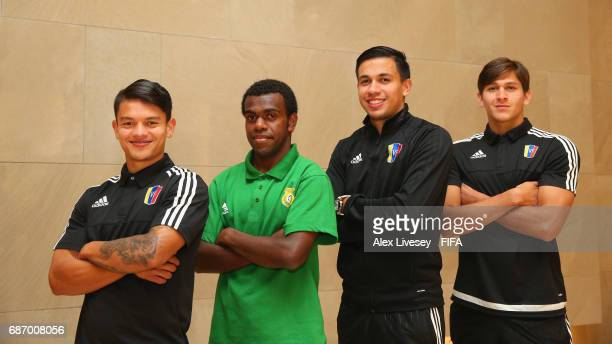 Ronaldo Lucena of Venezuela Ronaldo Wilkins of Vanuatu Ronaldo Chacon and Ronaldo Pena of Venezuela pose for a portrait at the Lotte City Hotel...
