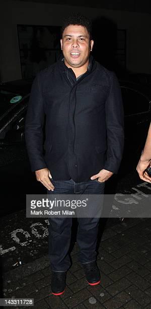 Ronaldo Luis Nazario de Lima at Rose night club on April 23 2012 in London England