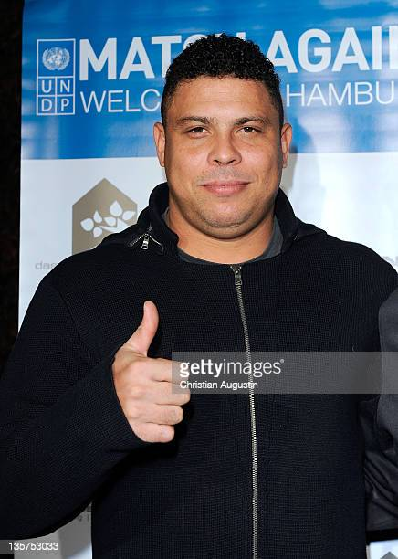Ronaldo Luis Nazario de Lima attends the After Match Dinner of 'Match against Poverty' at the Restaurant 'Das weisse Haus' on December 13 2011 in...