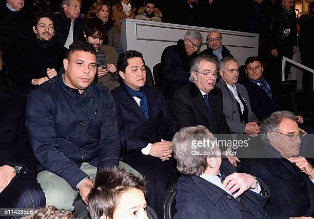 Ronaldo Luis Nazario de Lima President FC Internazionale Erick Thohir Honorary President FC Internazionale Massimo Moratti Jose Mourinho and Javier...