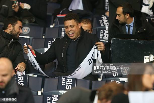 Ronaldo Luís Nazário De Lima attends the UEFA Champions League between Paris SaintGermain and Real Madrid CF at Parc Des Princes on october 21 2015...