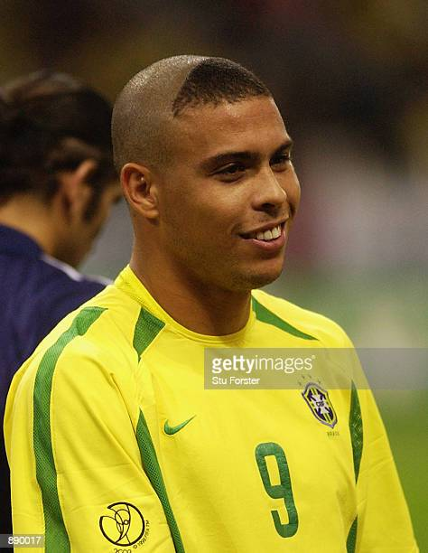 Ronaldo of Brazil during the FIFA World Cup Finals 2002 SemiFinal match between Brazil and Turkey played at the Saitama Stadium in SaitamaKen Japan...