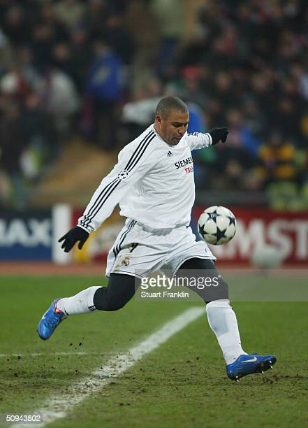 Ronaldo of Real Madrid in action during the UEFA Champions League match between Bayern Munich and Real Madrid at The Olympic Stadium on February 24...