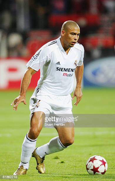 Ronaldo of Real Madrid in action during The UEFA Champions League match between Bayer Leverkusen and Real Madrid at The Bayer Arena on September 15...