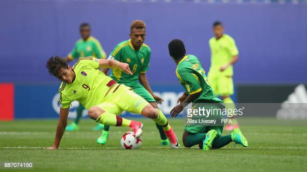 Ronaldo Pena of Venezuela is tackled by Gregory Patrick of Vanuatu during the FIFA U20 World Cup Korea Republic 2017 group B match between Venezuela...