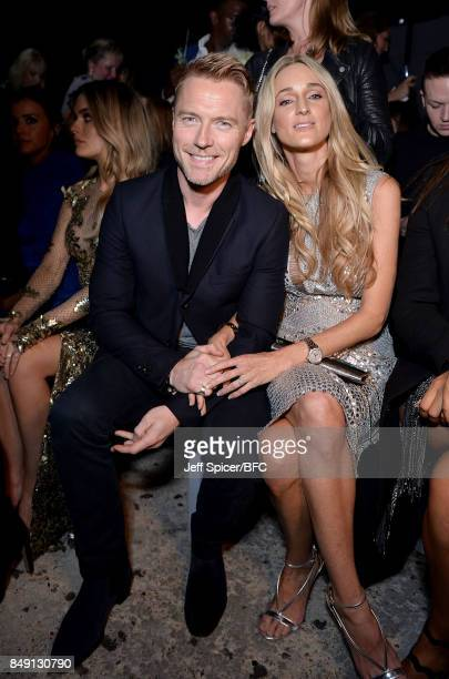 Ronan and Storm Keating attending the Julien Macdonald show during London Fashion Week September 2017 on September 18 2017 in London England