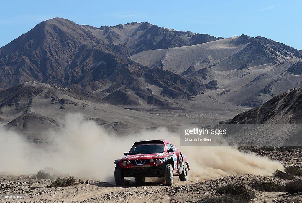 Ronan Chabot and co-driver Gilles Pillot of team SMG compete in stage 12 from Fiambala to Copiapo during the 2013 Dakar Rally on January 17, 2013 in Fiambala, Argentina.