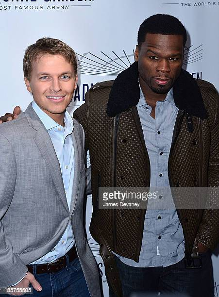 Ronan Farrow and Curtis '50 Cent' Jackson attends Madison Square Garden transformation unveiling at Madison Square Garden on October 24 2013 in New...