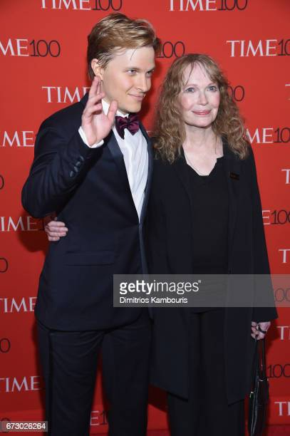 Ronan Farrow and Mia Farrow attend the 2017 Time 100 Gala at Jazz at Lincoln Center on April 25 2017 in New York City