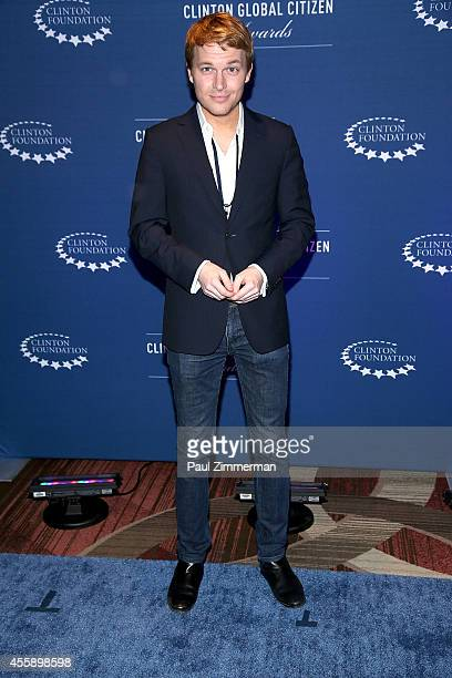 Ronan Farrow attends the 8th Annual Clinton Global Citizen Awards And CGCA Blue Carpet at Sheraton New York Times Square on September 21 2014 in New...