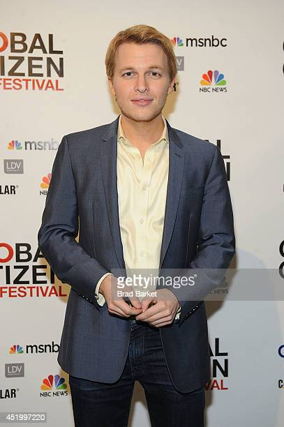 Ronan Farrow attends the Third Annual GLOBAL CITIZEN FESTIVAL Launch Party at Milk Studios on July 10 2014 in New York City