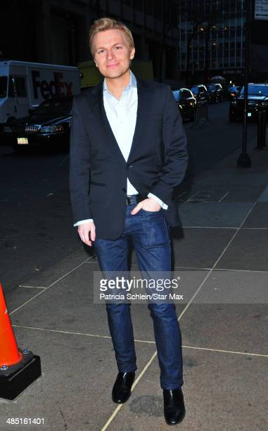 Ronan Farrow is seen on April 16 2014 in New York City
