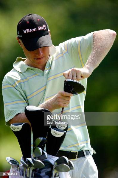 Ronan Flood Padraig Harrington's caddie made a driver adjustment during the third preview day of the 91st PGA Championship at Hazeltine National Golf...
