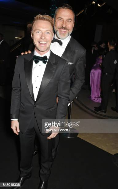 Ronan Keating and David Walliams attend the GQ Men Of The Year Awards at the Tate Modern on September 5 2017 in London England