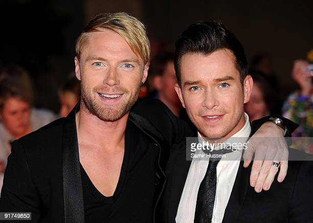 Ronan Keating and Stephen Gately attend the Pride of Britain Awards at the Grosvenor House Hotel on October 5 2009 in London England