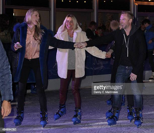 Ronan Keating and Storm Keating are seen skating at the Natural History Museum Swarovski Ice Rink Launch at Natural History Museum on October 28 2015...