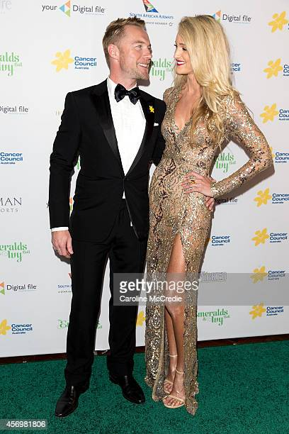 Ronan Keating and Storm Keating arrive at The Emeralds and Ivy Ball at Sydney Town Hall on October 10 2014 in Sydney Australia
