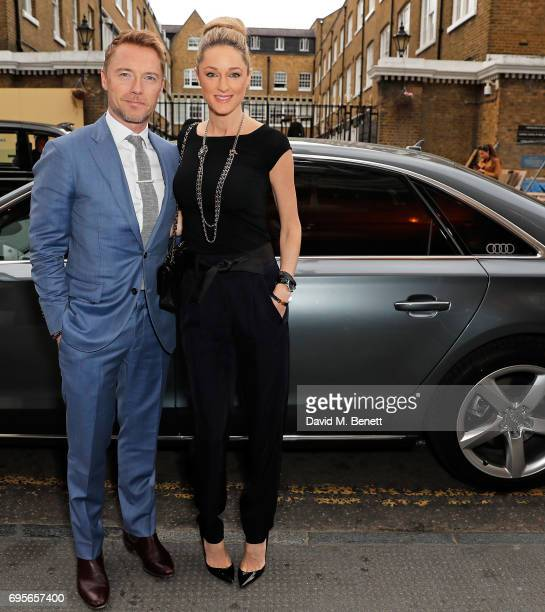 Ronan Keating and Storm Keating arrive in an Audi at the Summer Party 199 for The Old Vic on June 13 2017 in London England
