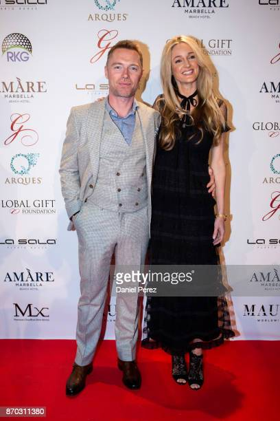 Ronan Keating and Storm Keating attend at the 2nd Annual Global Gift Ronan Keating Golf Tournament Dinner and Concert on November 11 2017 in Marbella...