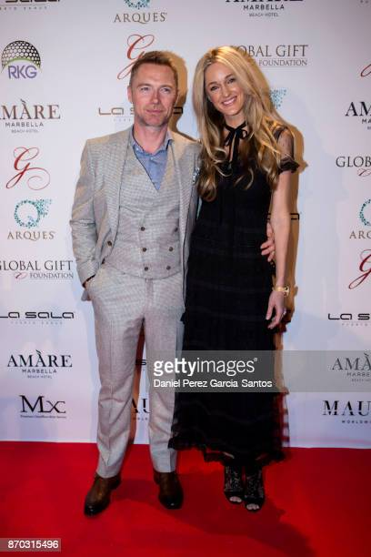 Ronan Keating and Storm Keating attend at the 2nd Annual Global Gift Ronan Keating Golf Tournament Dinner and Concert on November 04 2017 in Marbella...