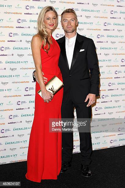 Ronan Keating and Storm Keating attend The Emeralds And Ivy Ball at Old Billingsgate Market on November 30 2013 in London England