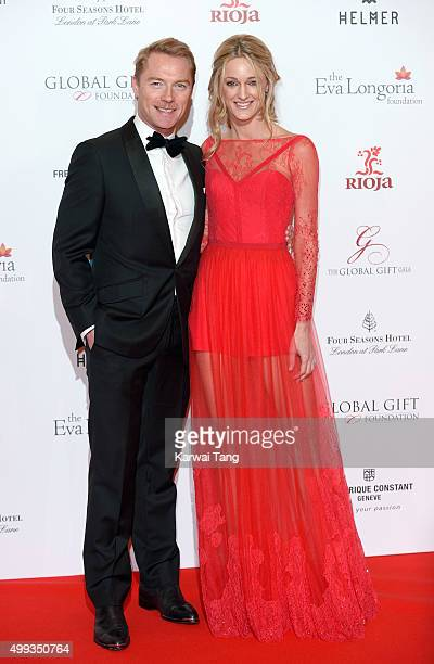 Ronan Keating and Storm Keating attend The Global Gift Gala at Four Seasons Hotel on November 30 2015 in London England