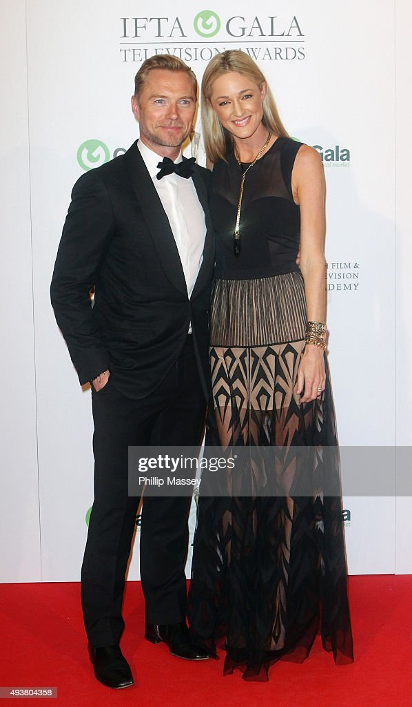 Ronan Keating and Storm Keating attend the IFTA Gala Television Awards on October 22, 2015 in Dublin, Ireland.
