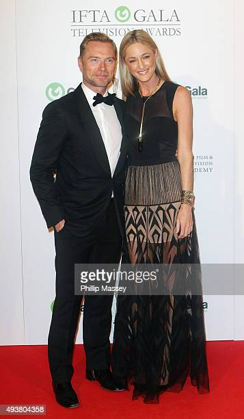 Ronan Keating and Storm Keating attend the IFTA Gala Television Awards on October 22 2015 in Dublin Ireland