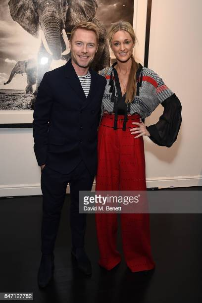 Ronan Keating and Storm Keating attend the private view of leading wildlife photographer David Yarrow's exhibition at Maddox Gallery Westbourne Grove...
