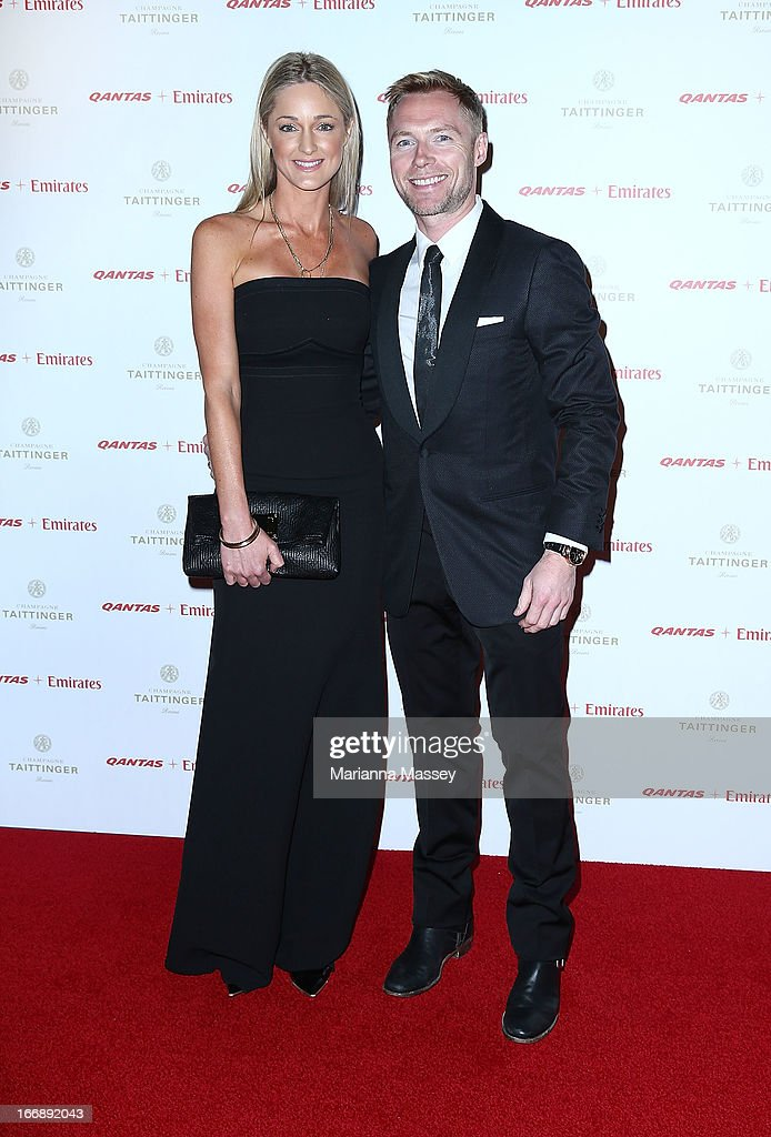 <a gi-track='captionPersonalityLinkClicked' href=/galleries/search?phrase=Ronan+Keating&family=editorial&specificpeople=201657 ng-click='$event.stopPropagation()'>Ronan Keating</a> and Storm Keating attend the QANTAS Gala Dinner at Sydney Domestic Airport on April 18, 2013 in Sydney, Australia.
