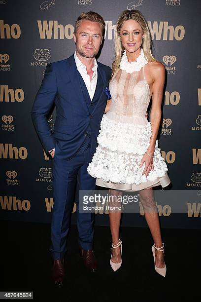 Ronan Keating and Storm Keating pose at WHO's sexiest people party 2014 at Fox Studios on October 22 2014 in Sydney Australia