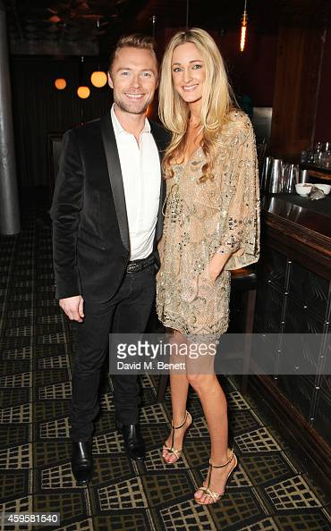 Ronan Keating and Storm Uechtriz attend an after party following the press night performance of 'Once' as Ronan Keating joins the cast at Century on...