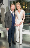 Ronan Keating and Storm Uechtriz attend the Amanda Wakely show during London Fashion Week Spring/Summer 2016/17 on September 22 2015 in London England