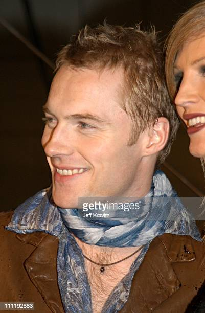 Ronan Keating and wife during MTV European Music Awards 2002 at Palau Sant Jordi in Barcelona Spain