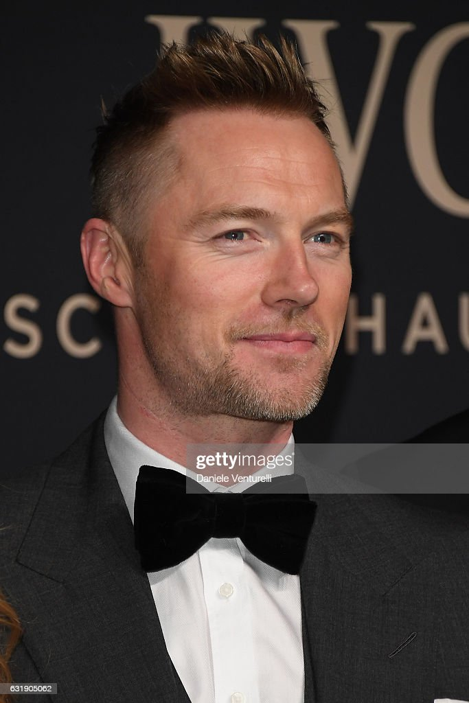 Ronan Keating arrives at IWC Schaffhausen at SIHH 2017 'Decoding the Beauty of Time' Gala Dinner on January 17, 2017 in Geneva, Switzerland.