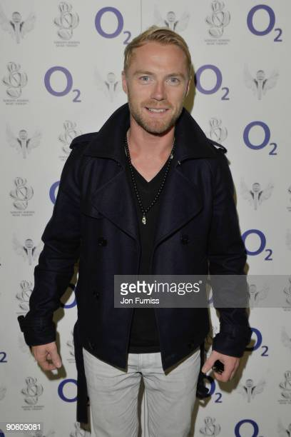 ACCESS*** Ronan Keating arrives for the O2 Rockwell concert in aid of NordoffRobbins Music Therapy at 02 Arena on September 11 2009 in London England