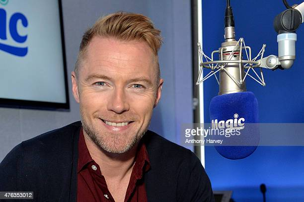 Ronan Keating at Magic Radio Studio's on June 8 2015 in London England Ronan joins Magic Radio to present their 'Magic in the Morning Breakfast Show'...