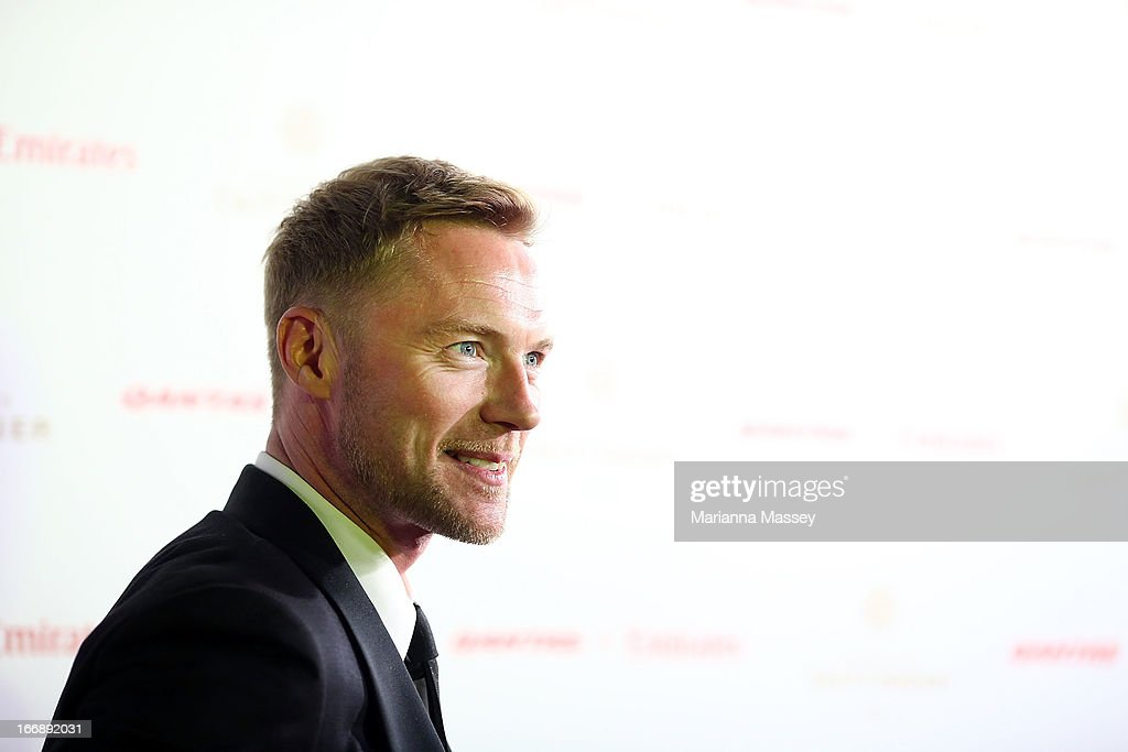 <a gi-track='captionPersonalityLinkClicked' href=/galleries/search?phrase=Ronan+Keating&family=editorial&specificpeople=201657 ng-click='$event.stopPropagation()'>Ronan Keating</a> attends the QANTAS Gala Dinner at Sydney Domestic Airport on April 18, 2013 in Sydney, Australia.