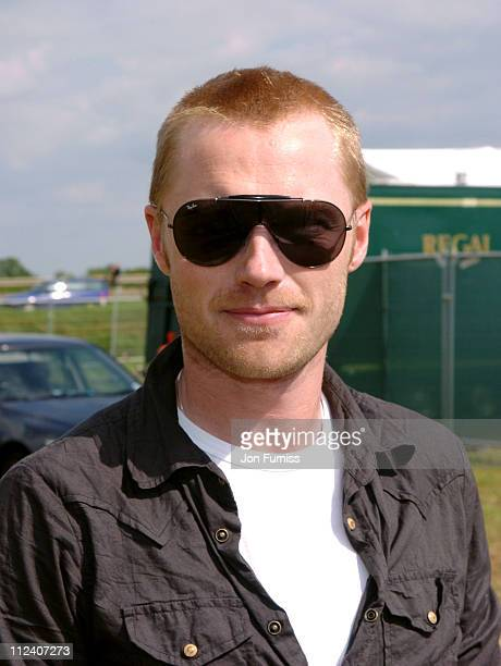 Ronan Keating during 2004 Invicta FM Party In The Park With O2 Music Backstage at Hop Park in Paddock Wood Great Britain