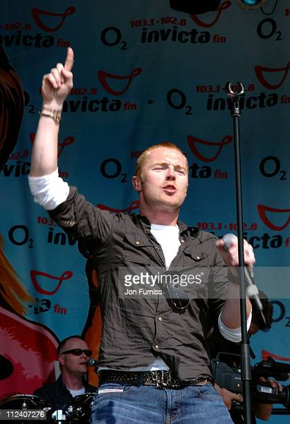 Ronan Keating during 2004 Invicta FM Party In The Park With O2 Music Show at Hop Park in Paddock Wood Great Britain