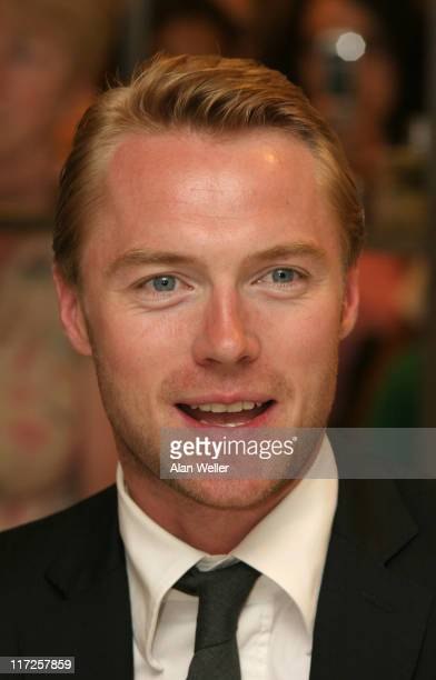 Ronan Keating during Ronan Keating Launches Fragrances Hope' and 'Believe at Fenwick July 28 2006 at Fenwicks in London Great Britain