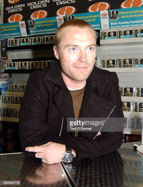 Ronan Keating during Ronan Keating Launches New Single 'I Hope You Dance' at Golden Discs in Dublin Ireland