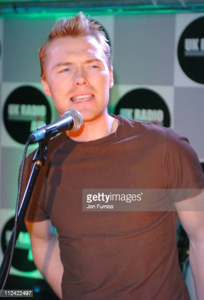 Ronan Keating during UK Radio Aid to Benefit Victims of the Asian Tsunami Acoustic Lounge at Capital Radio in London United Kingdom