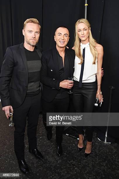 Ronan Keating Julien MacDonald and Storm Keating attend the Julien MacDonald Spring/Summer 2016 Collection during London Fashion Week at Smithfields...