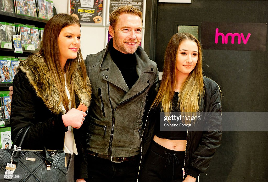 <a gi-track='captionPersonalityLinkClicked' href=/galleries/search?phrase=Ronan+Keating&family=editorial&specificpeople=201657 ng-click='$event.stopPropagation()'>Ronan Keating</a> meets fans and signs copies of his new album 'Time Of My Life' at HMV Manchester on February 12, 2016 in Manchester, England.