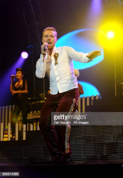 Ronan Keating of Boyzone performs in concert at Wembley Arena north London
