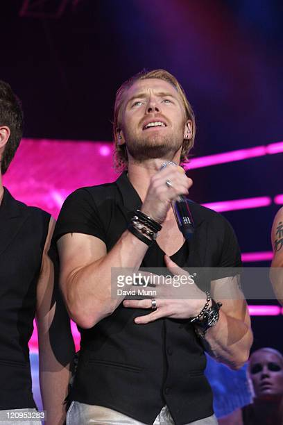 Ronan Keating of Boyzone performs on stage at The Liverpool Echo Arena June 15 2008 in Liverpool England